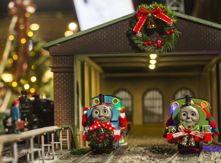 「きかんしゃトーマス」クリスマス仕様など冬の特別列車が走る!新登場コーナーも@原鉄道模型博物館