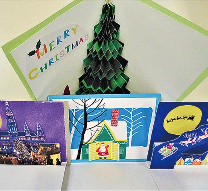 クリスマス仕掛けのポップアップカード作り@リリオス