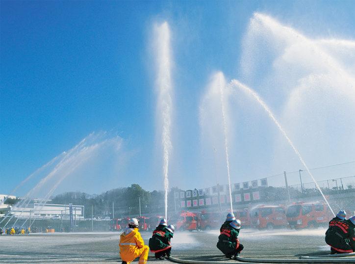 麻生区消防出初式@麻生水処理センター