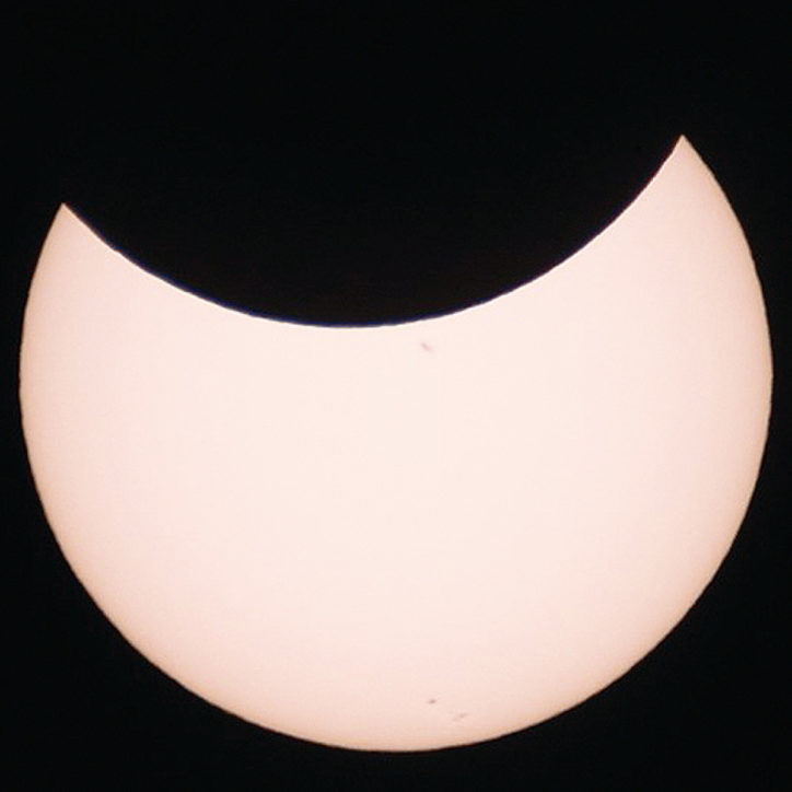 【部分日食2019】秦野・くずはの家には望遠鏡を設置