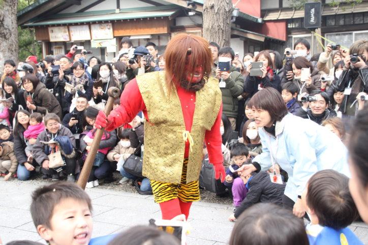 「鬼は外」「福は内」お三の宮日枝神社で節分祭追儺式【横浜市南区】