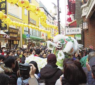 横浜中華街「2019春節」【2月5日~2月19日】伝統の獅子舞は2月5日に披露