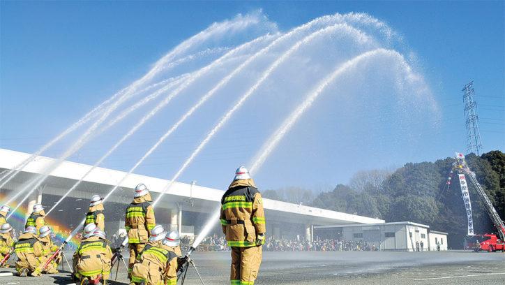 新春恒例「多摩市消防団出初式」