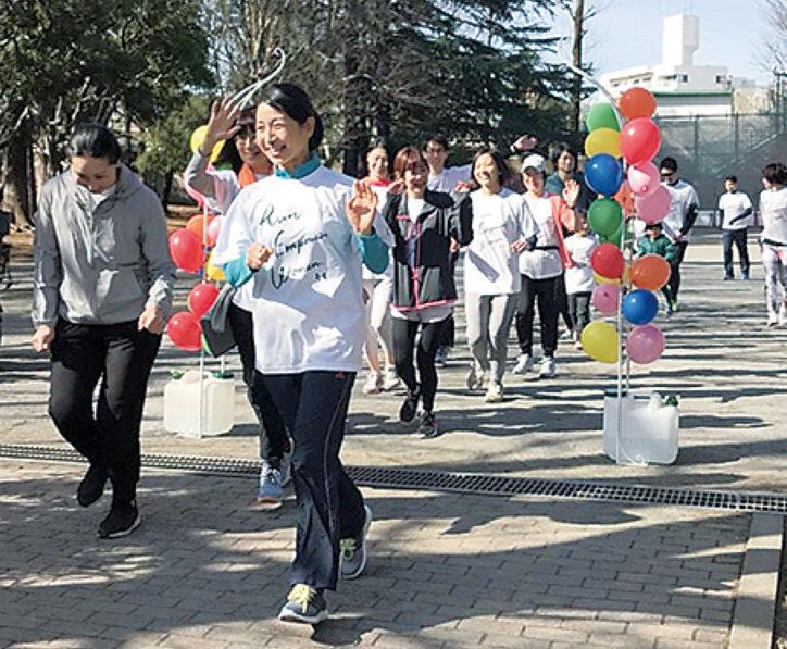 走って国際女性支援「ホワイトリボンラン」登戸、多摩川河川敷で初開催