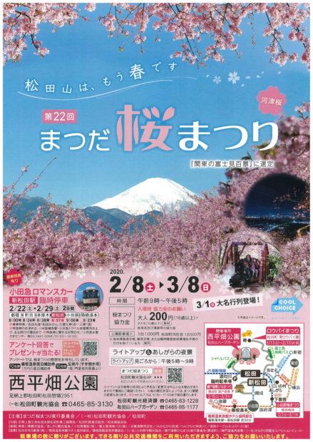 素晴らしい眺望と河津桜の競演「まつだ桜まつり」に行こう!@松田町