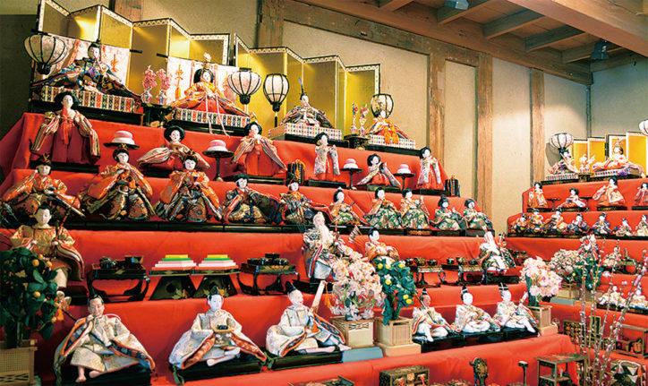 長屋門公園で「ひな人形とつるし雛展示」3月3日にはひな祭りも