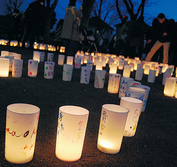 東日本大震災から8年ー。「3・11キャンドルナイト」@しらとり台