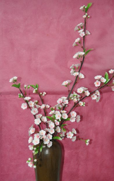 粘土で創る「さくらの花」と陶芸で創る「さくらのランプ」展