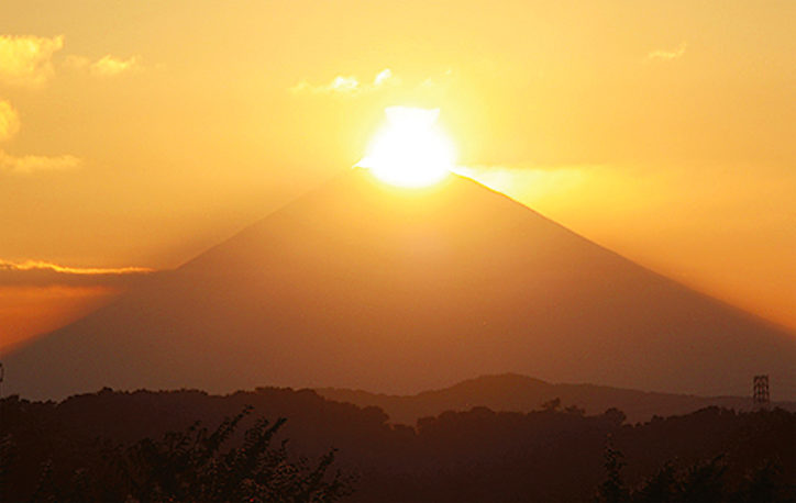 ダイヤモンド富士観測スポット@大磯城山公園ほか【2019年4月10日】