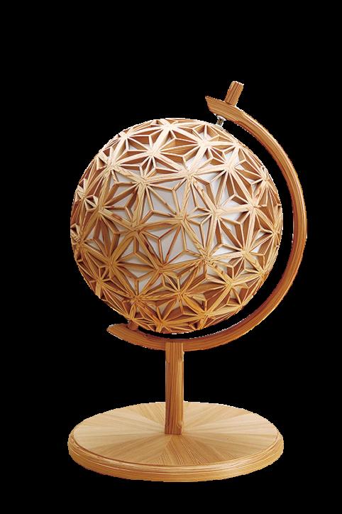 秦野産杉 地球儀型 行燈(あんどん)