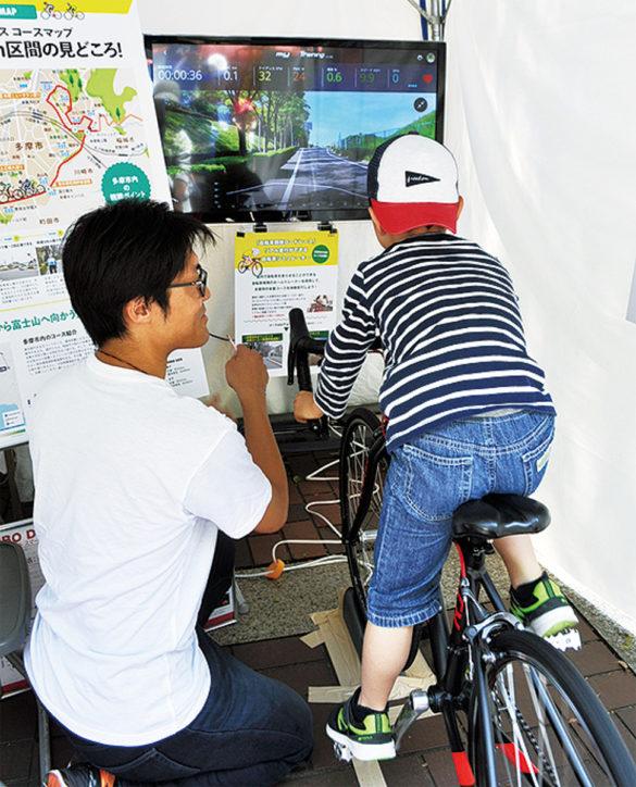多摩市で自転車競技ロードレース魅力PRイベント