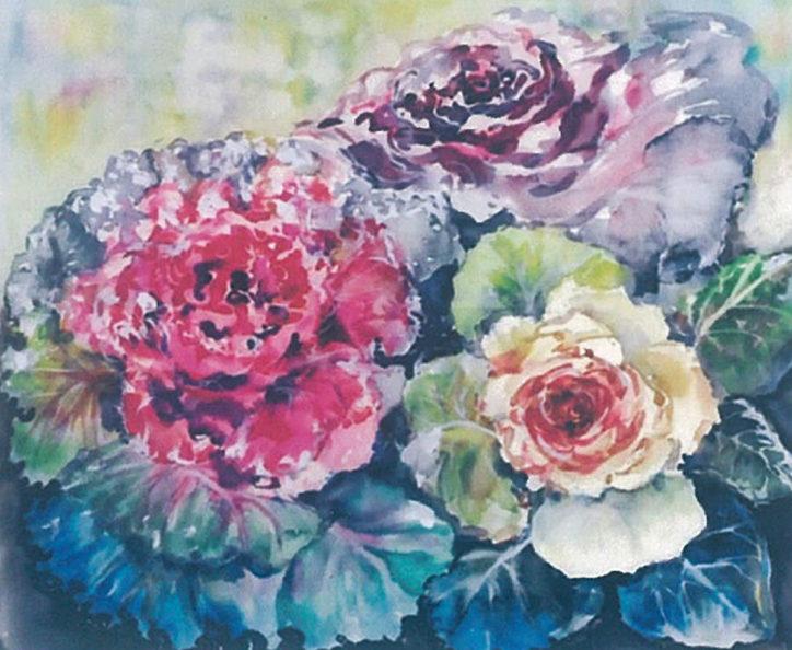 小島久美子絵画展「四季おりおり」季節の花などの作品が約25点展示【海老名市】
