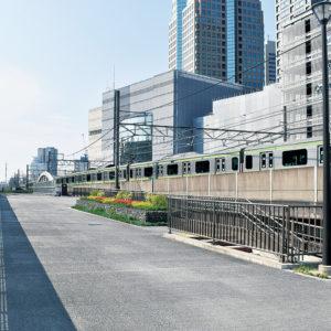 東横線跡地、桜木町駅から紅葉坂まで約140mが遊歩道に