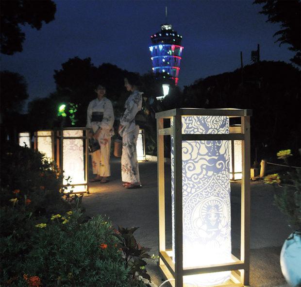 「江の島灯籠 2019」千基の明かりほのかに【藤沢市】9月1日まで