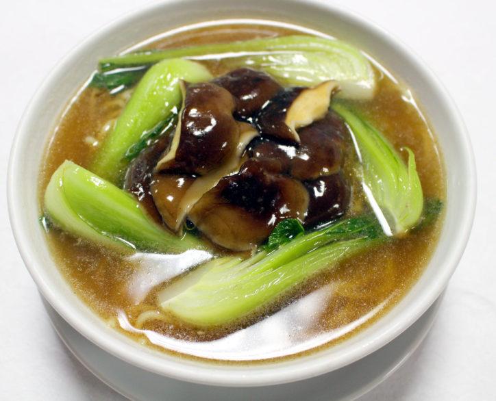 丹沢山麓育ちの椎茸と地場野菜の「シイタケ湯麺」