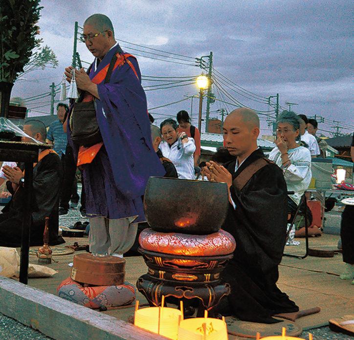 金沢漁港で安立寺のとうろう流し!【8月16日】@金沢区