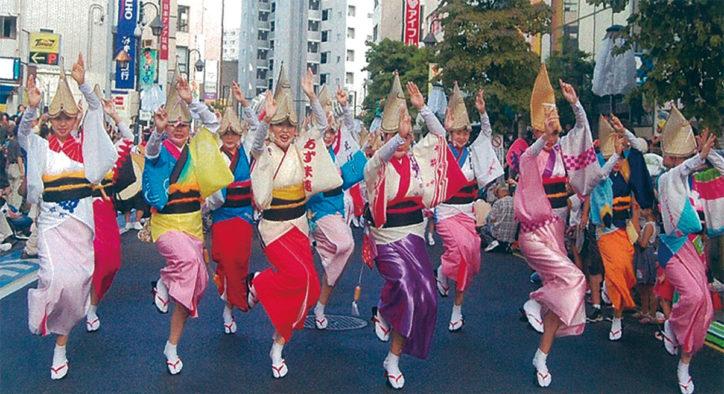 笑顔のひまわり交流「盆踊り大会」大和市から阿波踊り連も参加 @相武台前駅