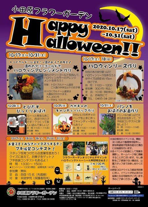 小田原フラワーガーデンで楽しむ『ハッピーハロウィン!』プチ仮装コンテストやリース作りなど!