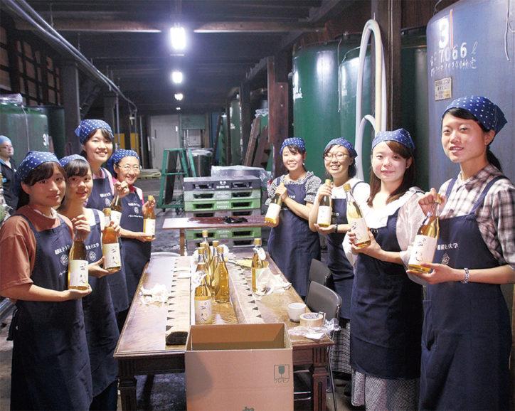 久保田酒造(株)と相模女子大学・短大がコラボ『オリジナル梅酒』製造!14日から相模大野で販売