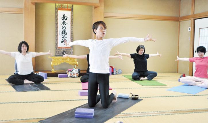 寺院でヨガ体験  毎月第2、4火曜に開催@都筑区勝田町