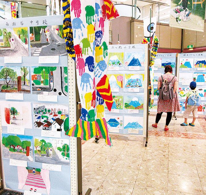 瀬谷区の児童らが描く「ふるさと瀬谷の風景50選展」開催
