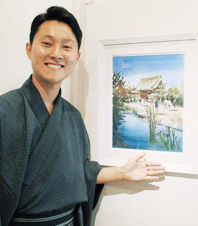 水彩画家 矢野元晴さんの出版記念 「平成鎌倉の記憶」原画展9月30日まで