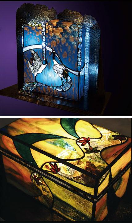 ステンドガラス作家・鈴木洋美さんによる「四季あかり展」@北鎌倉ギャラリー えにし