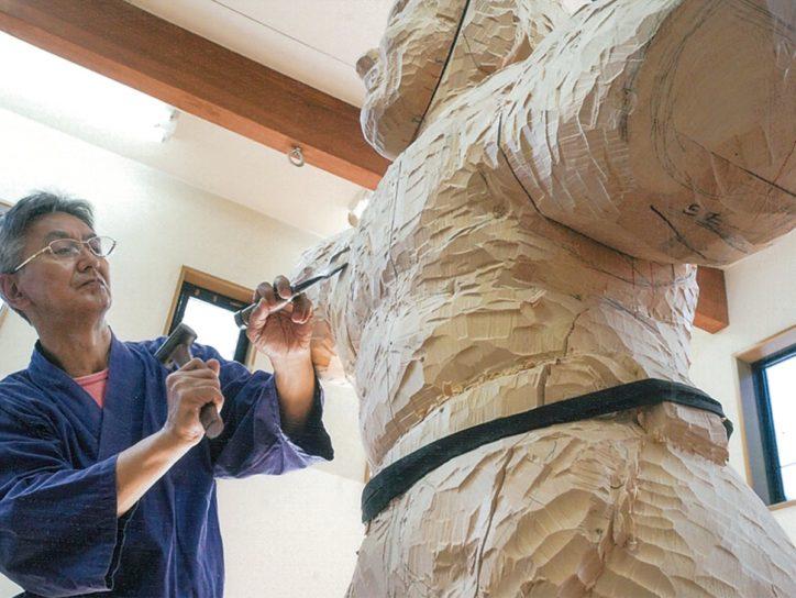 「鎌倉工房仏像彫刻教室」の作品展 制作過程解説や読経も@長谷寺普門寮
