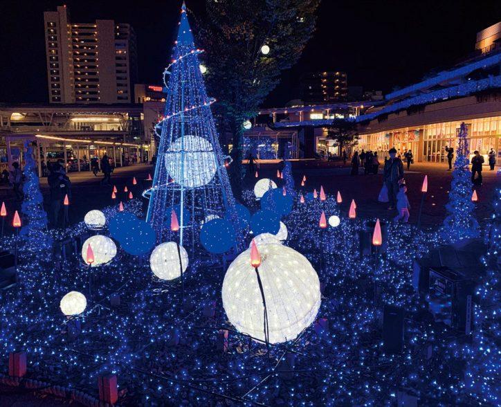 テラスモール湘南で2020年も光の演出「湘南にエール 」辻堂で13万球点灯