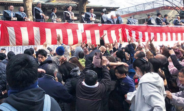 平塚市内の神社で2020年節分祭「鬼は外、福は内」掛け声ひびく