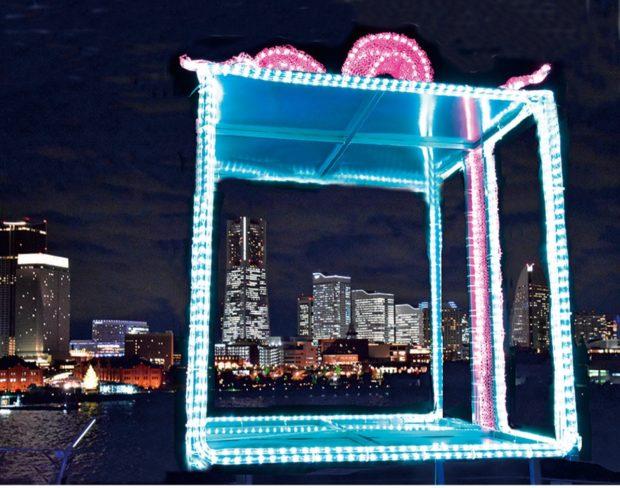 大さん橋に3つの光オブジェ「横浜港フォトジェニックイルミネーション」3月末まで