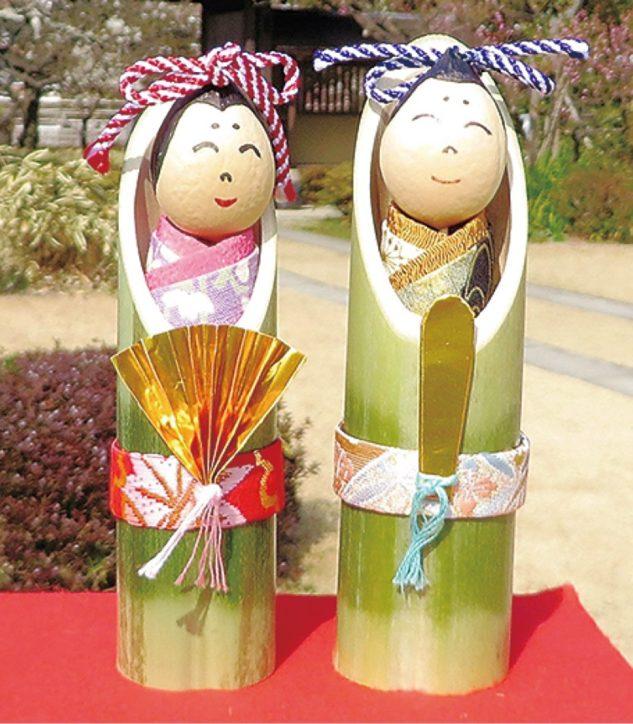 大磯城山公園で「日本庭園勉強会と竹細工教室」茶庭について&おひなさま作り