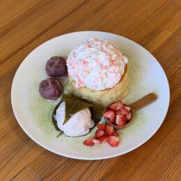 「春色パンケーキ」と秦野の桜咲く「さくらパンケーキ」/Breeze Cafe(秦野市)