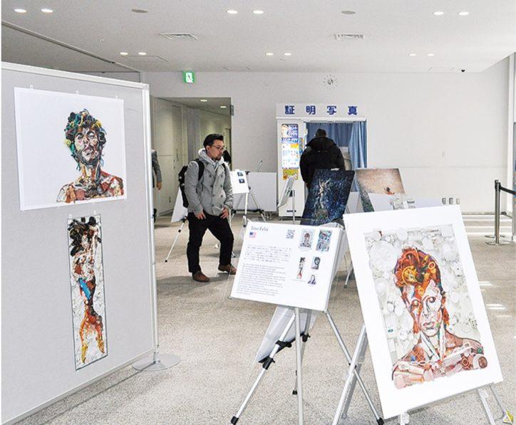 ビーチクリーン廃プラでアート写真展 @藤沢市役所1階