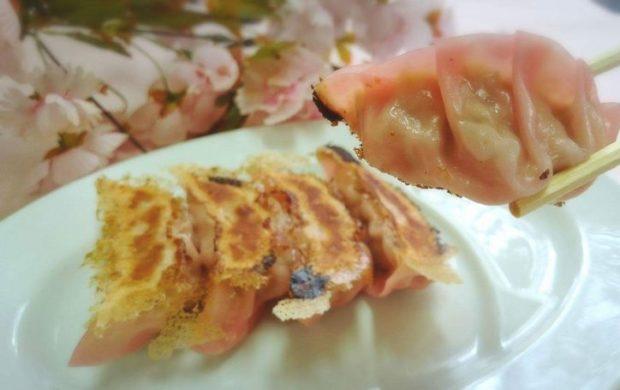 秦野産八重桜を使った「秦野桜餃子」「秦野桜つけ麺」/味乃大久保(秦野市)