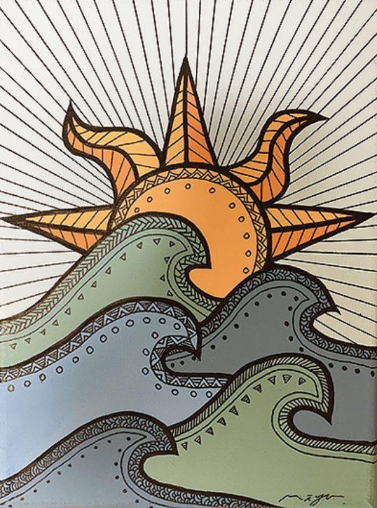 「三崎の良さ伝えたい」豊かな自然を絵で表現 個展予定が休館で、一部展示