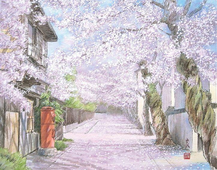 絵で楽しむ春の鎌倉 福井良宏さんの日本画展開催@i―Za鎌倉アートギャラリー
