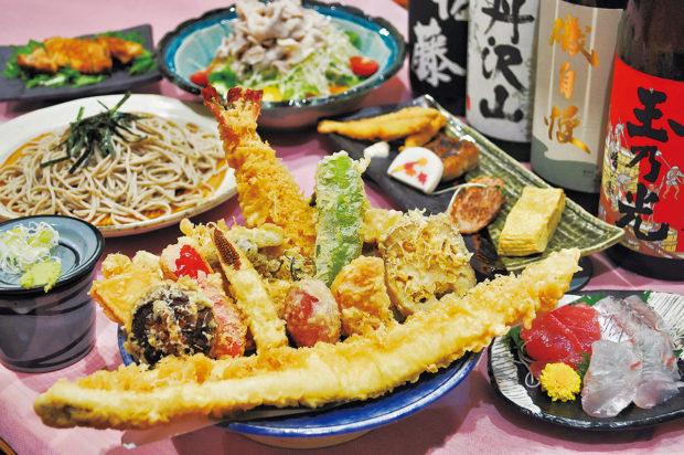 自慢の蕎麦にダイナミックな天ぷら、甘味処としても人気のそば茶屋「正庵(しょうあん)」