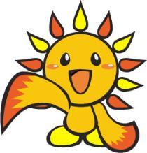 横浜市旭区のマスコットキャラクター「あさひくん」のぬり絵を飾りましょう!
