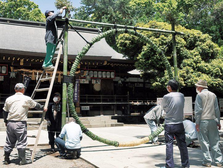 2020年は平塚八幡宮に1カ月早く「茅の輪」が登場 コロナ終息に願い込め