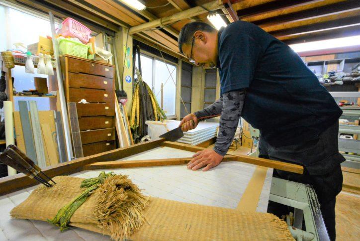 オリジナル「ミニ畳」を作ろう@根倉たたみ店(秦野市)