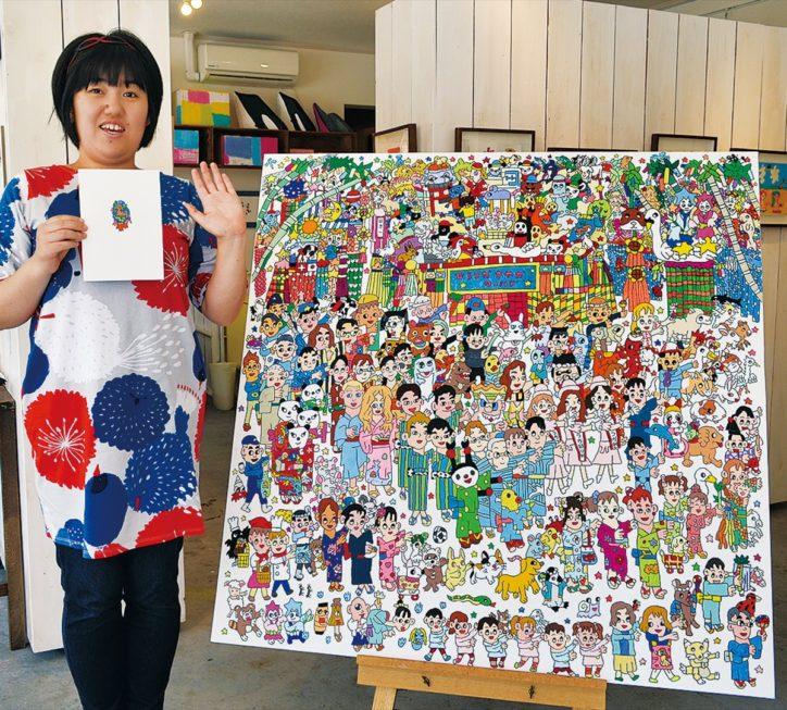 「湘南ひらつか七夕まつり」に思いを込めて、七夕1000人おどりのアート作品