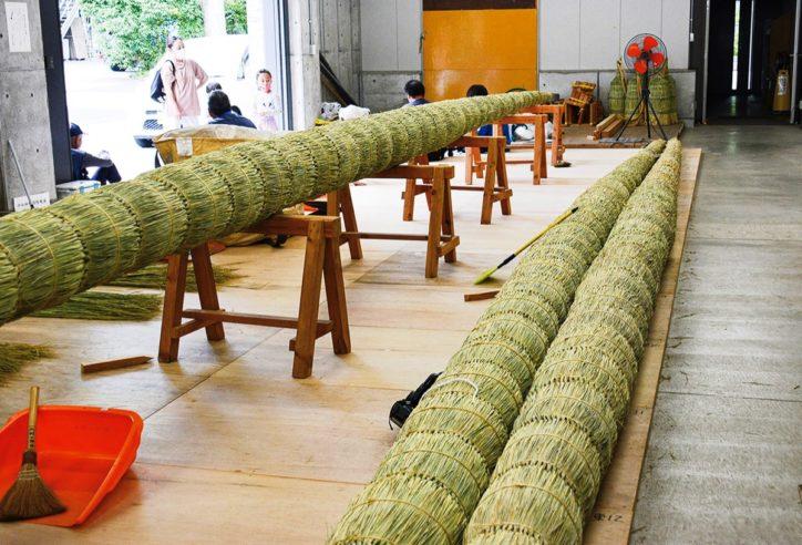 寒川神社の大注連縄(おおしめなわ)3年ぶりの新調 6月30日には茅の輪神事開催