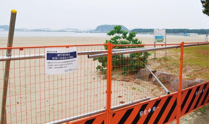 海の公園 海水浴場、今夏開設せず 【横浜市金沢区】