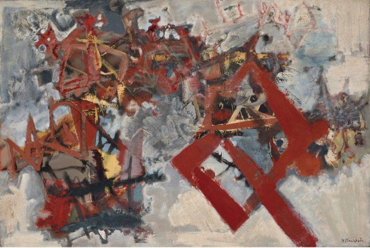 明快な色彩の抽象絵画 地階所蔵品展で川端実を特集 横須賀美術館