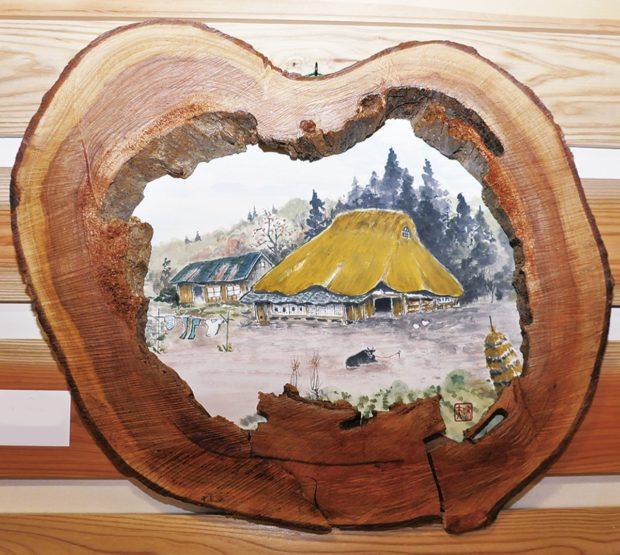 又村和夫画伯の作品常設へ 木と墨のぬくもり溢れる水墨画作品中心に@厚木市森林組合