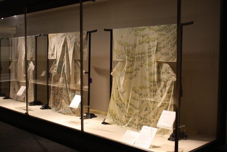 涼を感じる着物展示 人間国宝作家・田島比呂子作の訪問着「かつら」など 【横浜市中区】シルク博物館