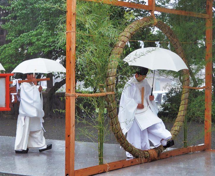 雨音響く大祓 2020年は神職だけで  鈴鹿明神社 【座間市】