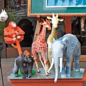 動物の紙工作から元気をもらえる@八王子市横山町:カット工房シルキー
