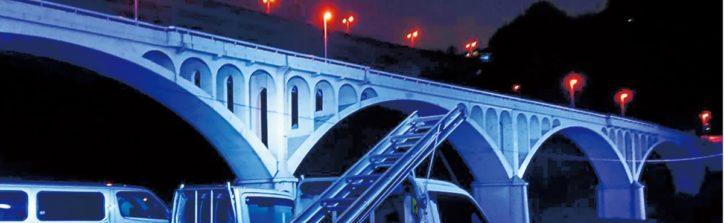 河面に映る姿は幻想的ー小倉橋のみライトアップ【相模原市】